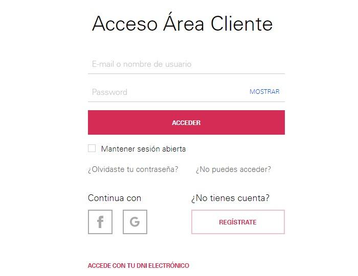 área para clientes