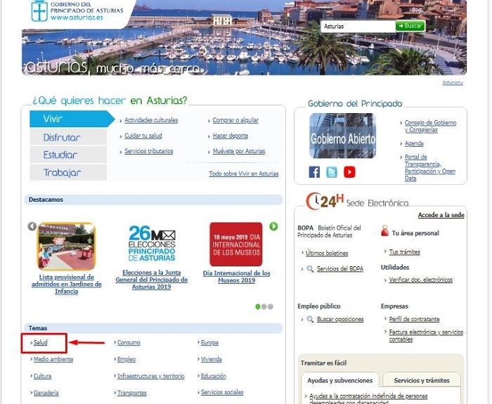 web Gobierno Asturias