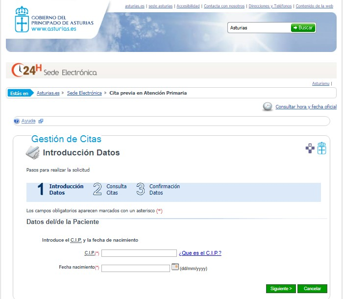 gestión de citas asturias