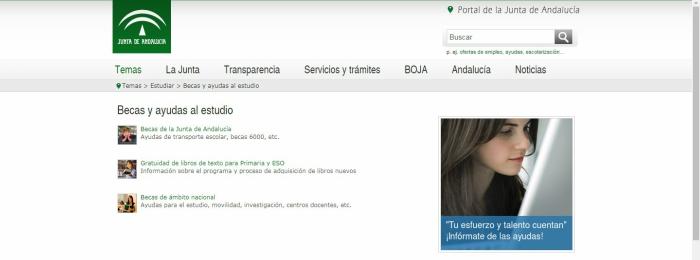 Becas y ayudas de Andalucía