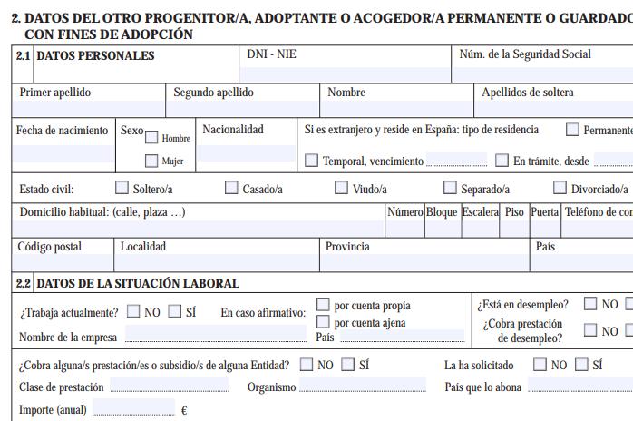 Datos de progenitor 2