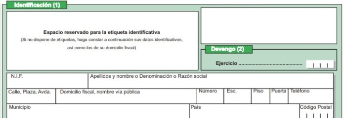 Identificación y devengo