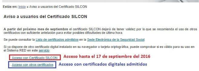 Selección del certificado de seguridad