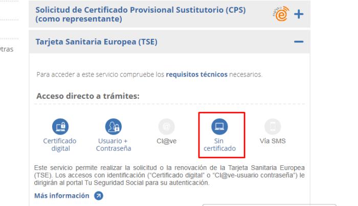 Sin Certificado