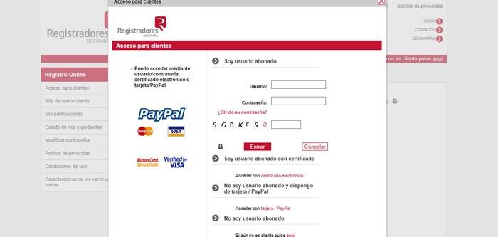 autenticación Registradores online