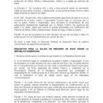 Autorizacion judicial para viajar al extranjero