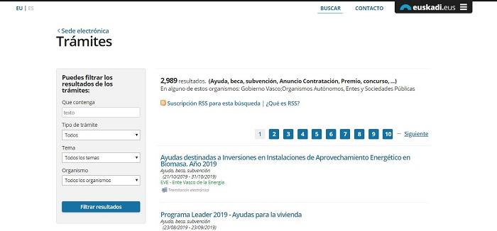 ayudas gobierno de Vasco