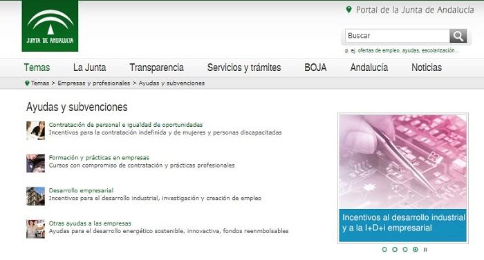 ayudas y subvenciones Andalucía