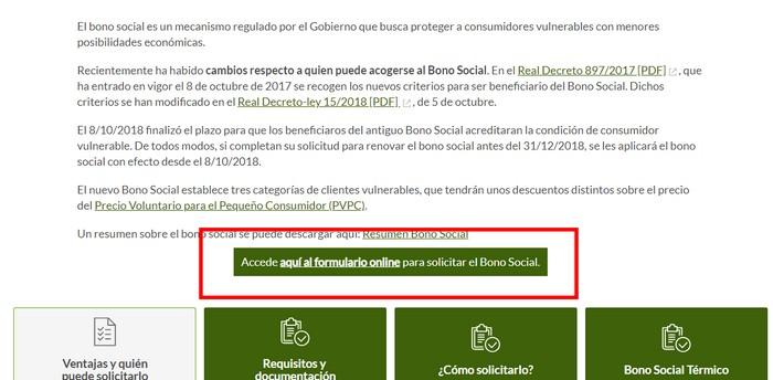 bono social Iberdrola