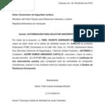 Carta de autorizacion para solicitar documentos