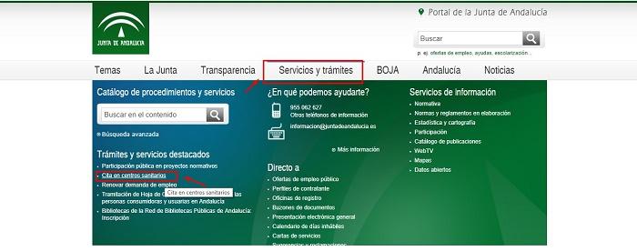 Cita para el medico por internet andalucia