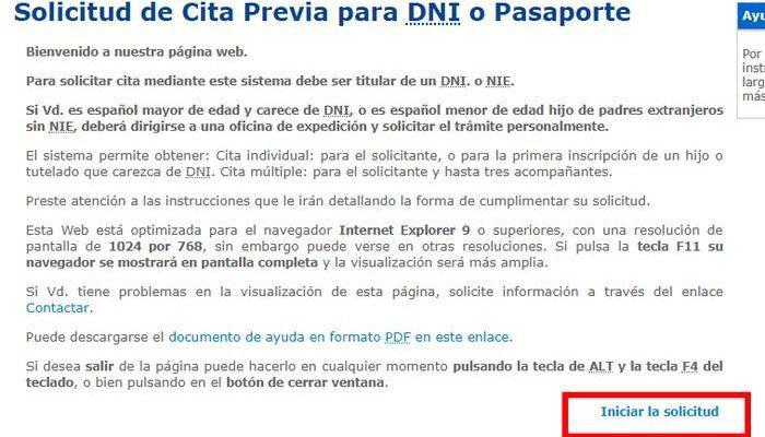 cita previa renovar el pasaporte en España