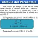 Como se calcula el porcentaje de una cantidad