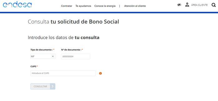 consulta bono social endesa