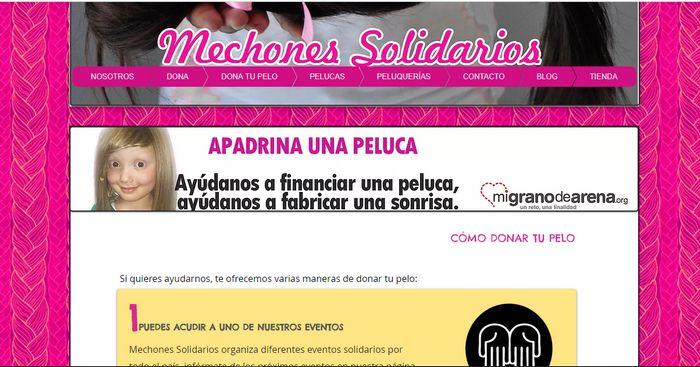 donar pelo en España Mechones Solidarios