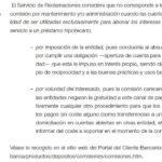 Escrito de reclamación de comisión por mantenimiento de cuenta bancaria