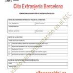 Formulario para empadronarse en barcelona