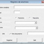 Formularios en visual basic aplicados para excel