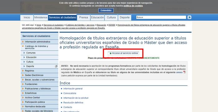 homologar un título en España