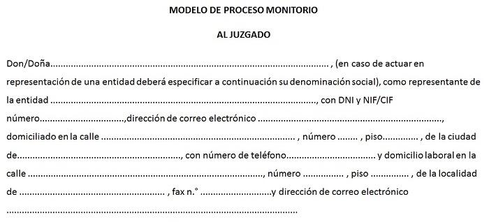 modelo monitorio