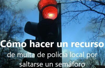 multa luz roja
