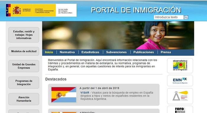 portal inmigración