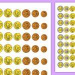Problemas de monedas y billetes primaria para imprimir