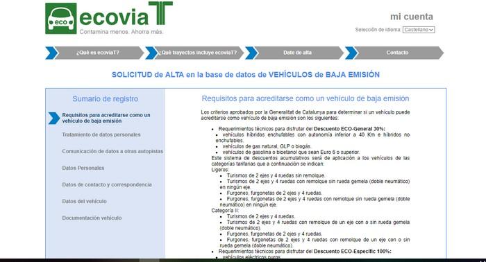 registro ecoviaT
