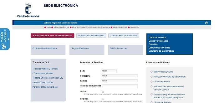 sede electrónica Castilla-La Mancha