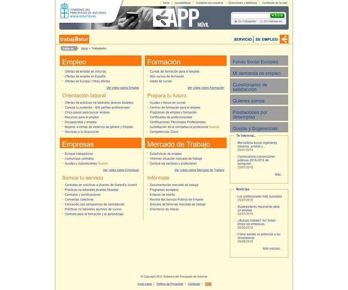 Portal web SEPEPA